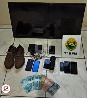 Polícia Militar prende dois homens que participaram de um roubo em Goioerê