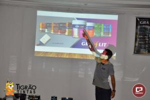 Parceria Tigrão Tintas, Grafftex e Grafflit realizam palestra e treinamento para pintores em Goioerê