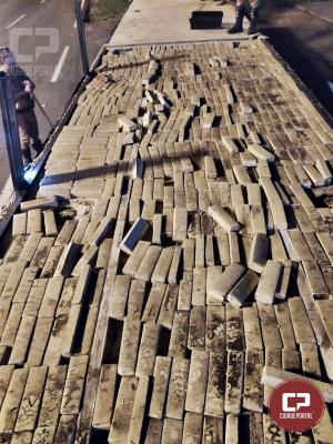Durante atendimento de acidente PRE de Cruzeiro apreende 680 kg de maconha
