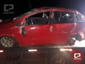 Acidente automobilístico entre Novo Sarandi/Nova Sta Rosa deixa veículo com danos materiais