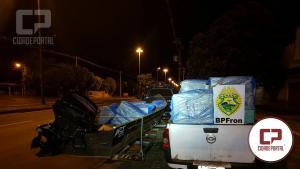 BPFron apreende embarcação e veículo carregados com contrabando em Guaíra