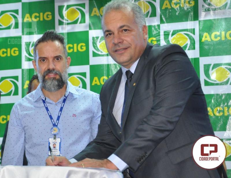 Presidente da ACIG firma cooperação com o Senac