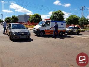Duas pessoas ficam feridas em acidente no cruzamento da 19 de Agosto com a Rua União da Vitória