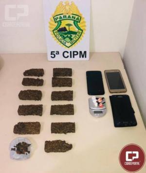 Equipes da Polícia Militar prendem trio por associação para o tráfico de entorpecentes em Cianorte