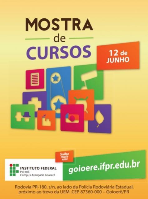 IFPR-Campus Avançado Goioerê realiza Mostra de Cursos 2019