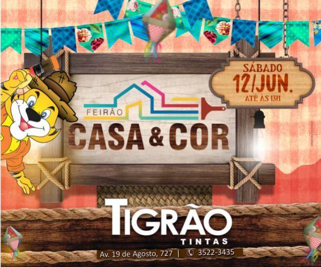 Feirão Casa & Cor é na Tigrão Tintas de Goioerê com descontos de até 50% somente neste sábado, 12