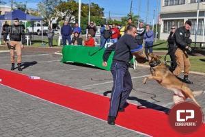 Militares integrantes do Canil realizaram apresentação no 1° Domincão em Cianorte