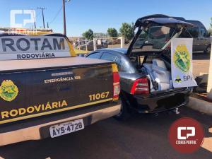 Equipe Rotam da 3ª CIA BPRv apreende veículo carregado com contrabando