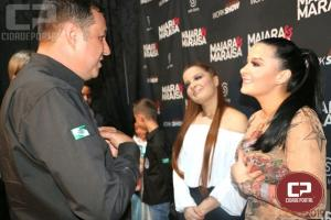 Presidente da Sociedade Rural, Fernando Nunes recepcionou Maiara e Maraisa na Expo-Goio