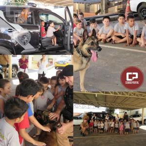 Crianças do CEMIC São José visitam sede da 5ª CIPM de Cianorte