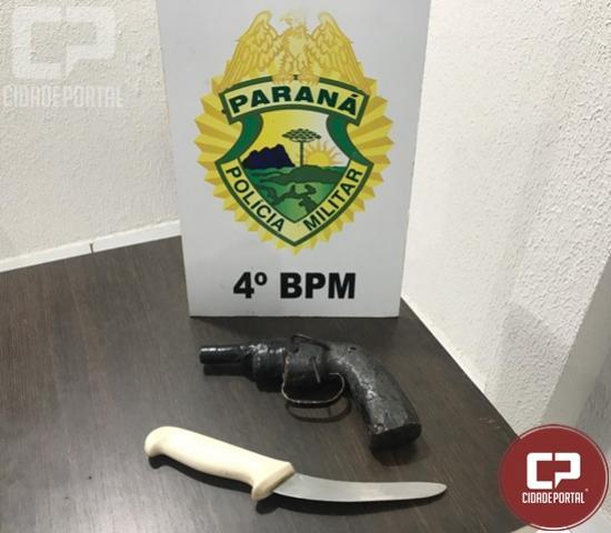 Polícia Militar prende homem de posse de simulacro em Maringá