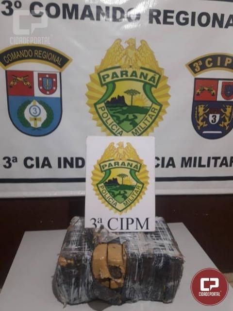 Polícia Militar da 3ª CIPM apreende entorpecente em Querência do Norte