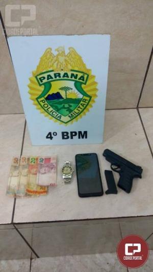 Polícia Militar prende duas pessoas por roubo e recupera objetos da vítima em Maringá