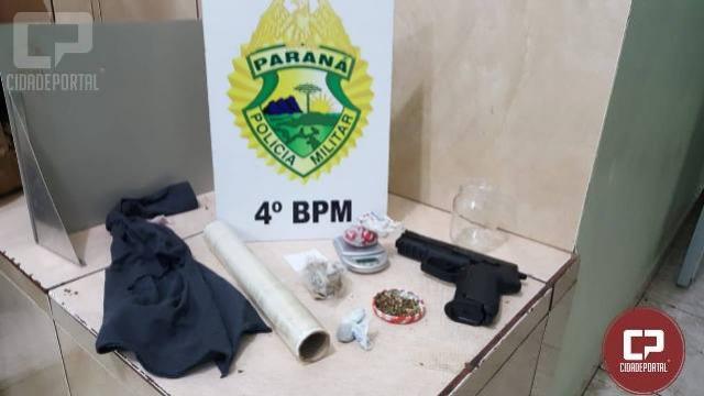 Polícia Militar prende agressor que portava simulacro de arma de fogo em Maringá