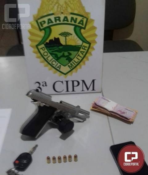 Policiais Militares da 3ªCIPM prendem homem por porte ilegal de arma em Querência do Norte