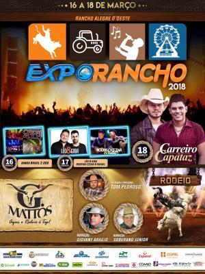 Sexta-feira, 16 Começa a Expo-Rancho 2018, que vai comemorar em grande estilo