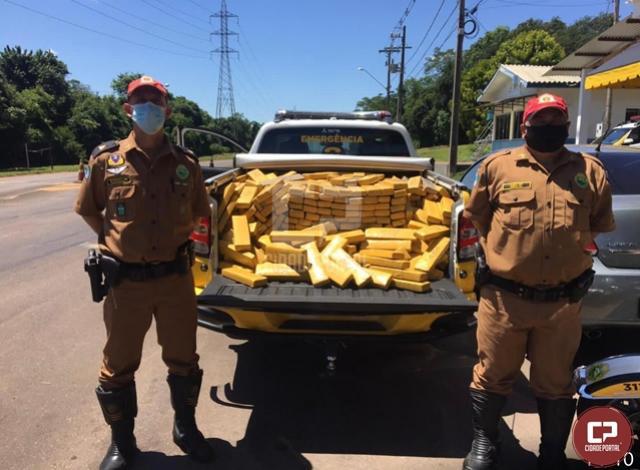 PRE apreende veículo carregado com 620 kg de maconha em Diamante do Norte