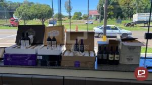 PRE de Cianorte apreende 72 garrafas de vinho importado em Tuneiras do Oeste