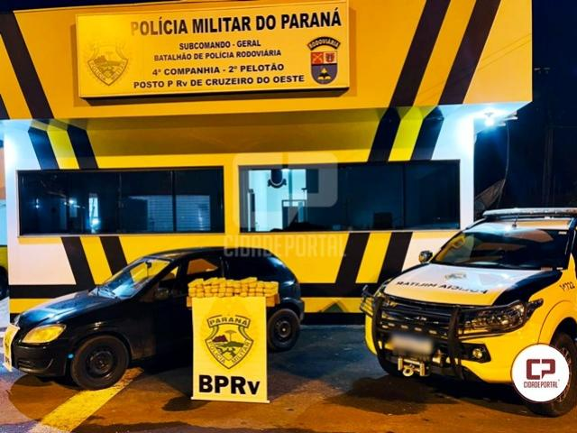 PRE de Cruzeiro do Oeste apreende veículo carregado com maconha