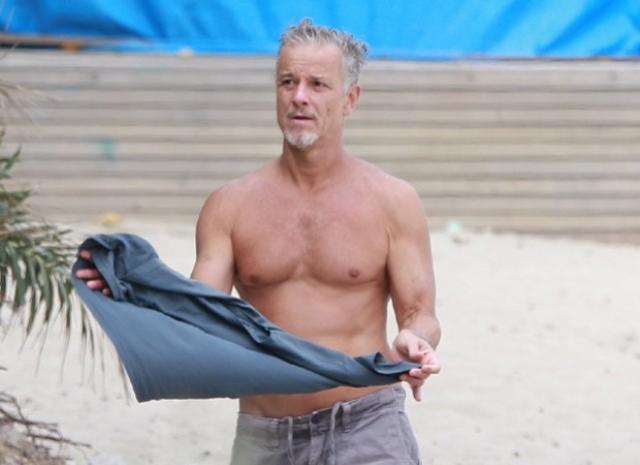 Marcello Novaes curte dia em Praia Carioca