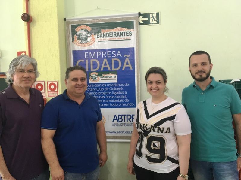 Supermercado Bandeirante passa participar do Grupo de Empresas Cidadã do Rotary de Goioerê