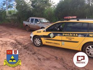 Polícia Rodoviária Estadual do Posto de Goioerê recupera uma caminhonete produto de roubo