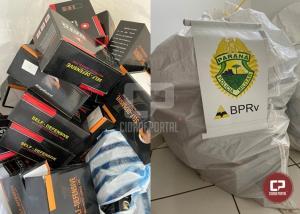 PRE de Cruzeiro do Oeste apreende mercadoria contrabandeada nesta terça-feira, 12