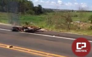 Motociclista perde a vida em acidente com carreta na entrada de Tuneiras do Oeste