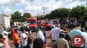 Uma pessoa fica ferida em capotamento no Jardim Curitiba