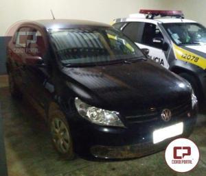 Policiais recuperam no município de Mariluz veículo que havia sido roubado em Goioerê