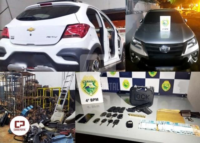 Policiais Militares desarticulam quadrilha de desmanche de veículos em Maringá
