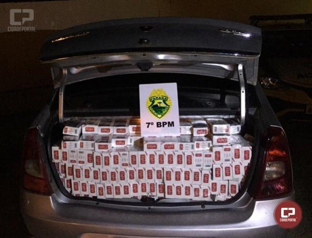 Rotam apreende veículo carregado com cigarros contrabandeados em Goioerê
