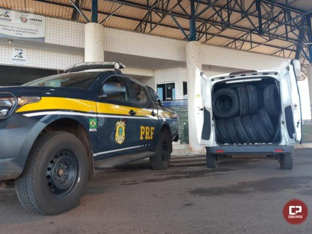 Operação Flagellum: PRF faz duas apreensões de pneus contrabandeados em uma mesma manhã