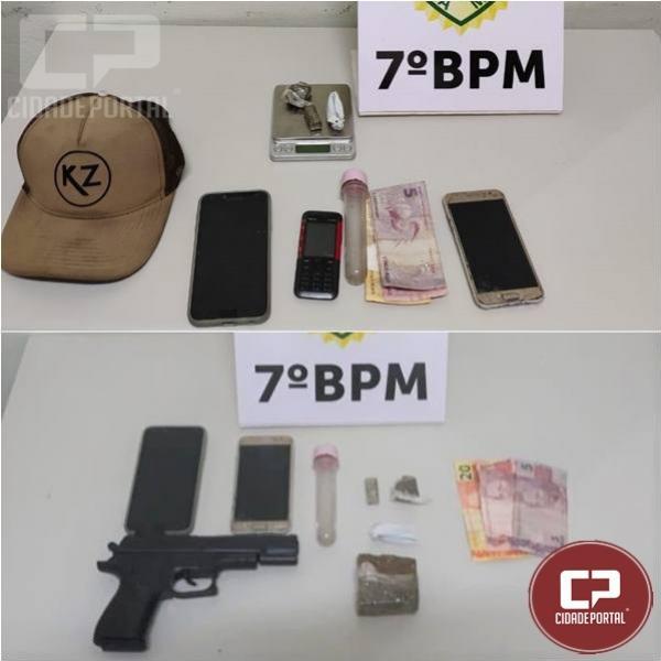 Polícia Militar encaminha duas pessoas após apreender drogas em Cruzeiro do Oeste