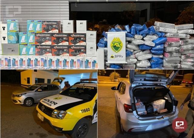PRE de Cruzeiro do Oeste apreende veículo com mercadorias contrabandeadas do Paraguai