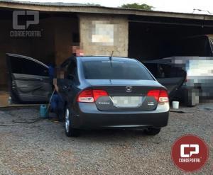 Três indivíduos armados e encapuzados rendem família e praticam roubo em área rural de Ubiratã