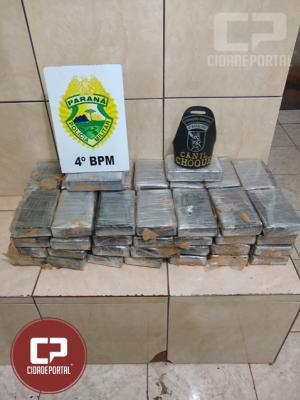 Polícia Militar apreende 58 tabletes de entorpecentes em Maringá