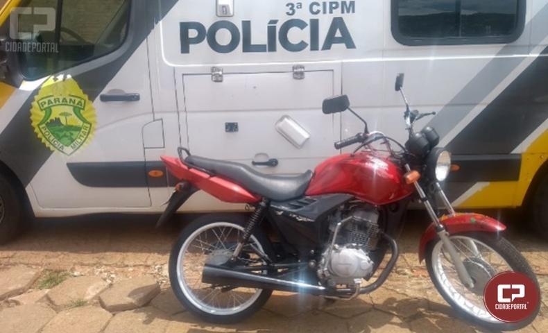 3ª CIPM apreende motocicleta por infração de trânsito em Nova Londrina