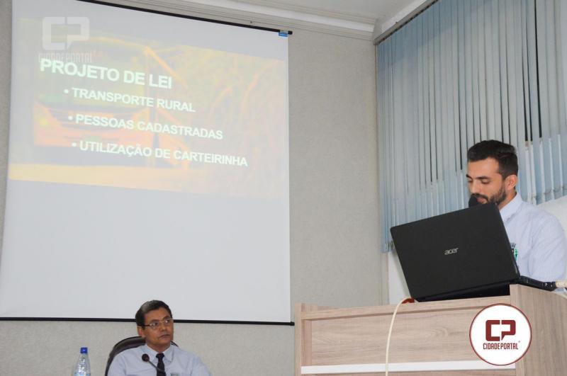 Vereador Sugere Lei para criação de linha de transporte que beneficie moradores de Comunidades Rurais