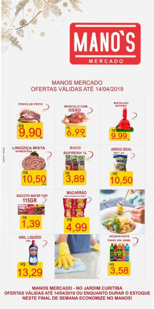 Final de Semana com Economia? vai para o Manos Mercado! - aproveite as ofertas até domingo dia 14