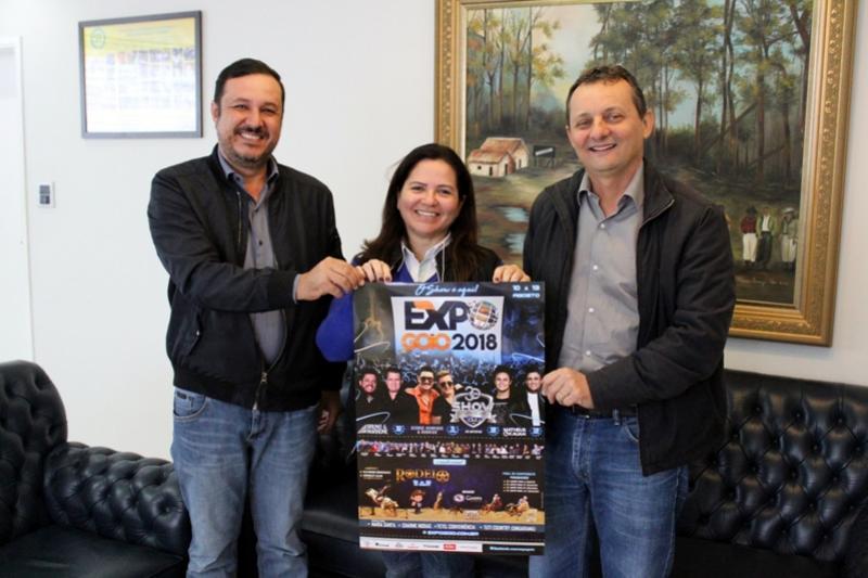 Prefeito Pedro Coelho recebe o presidente da Sociedade Rural para divulgar a Expo Goio 2018