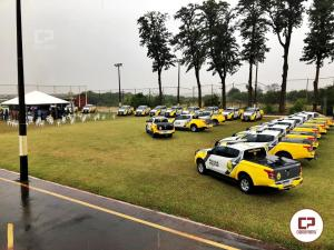Solenidade de entrega de viaturas para Polícia Militar foi realizado na manhã na sede da 4ª Cia em Maringá