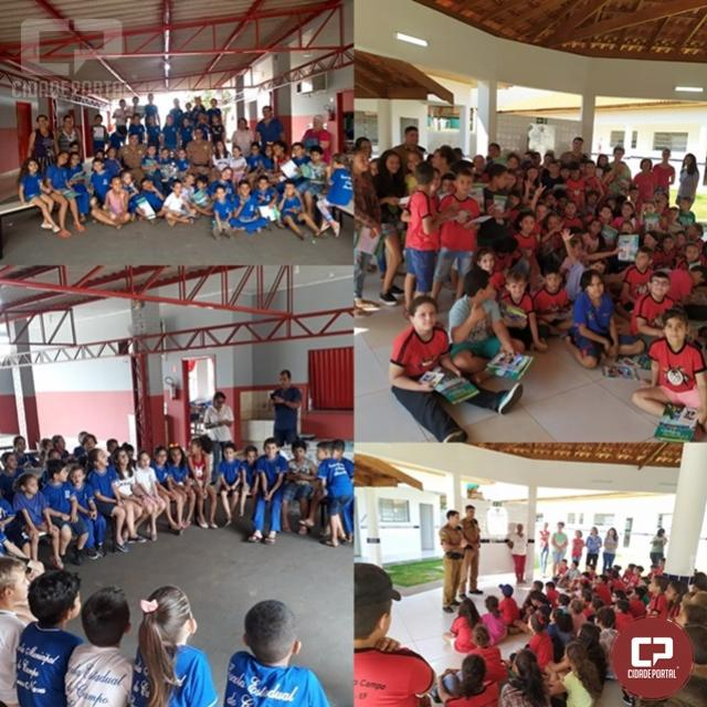 Policiais do 7º BPM visitam escolas municipais de Cuaraitava e Marabá