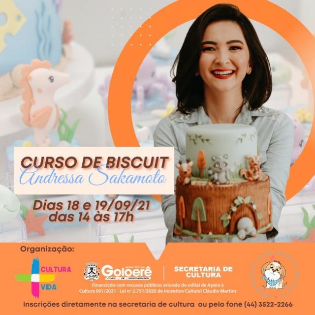 Inscrições na Casa de Cultura de Goioerê parao Curso de Biscuit estão abertas