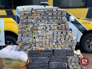 PRE de Cruzeiro do Oeste apreende veículo carregado com 388 kg de maconha