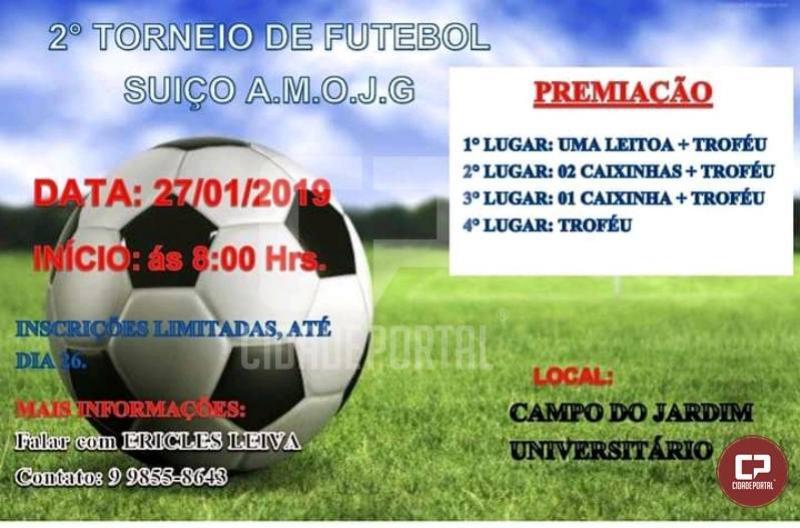 Inscrições abertas para o Segundo Torneio de Futebol SuíçoA.M.O.J.G
