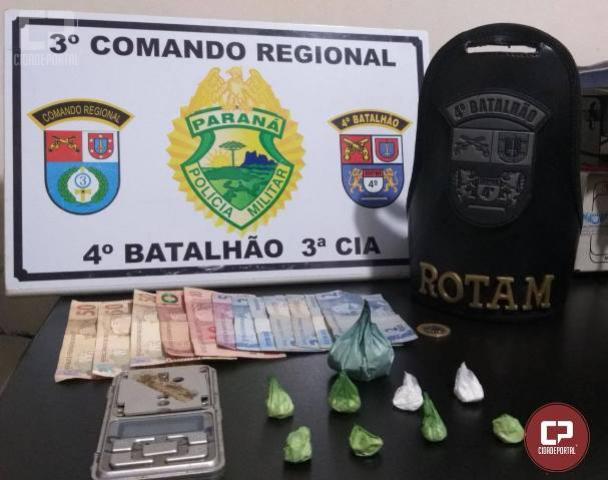 Polícia Militar prende dois traficantes e apreende droga em Paiçandu