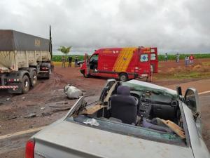 Grave acidente entre Campo Mourão e Luiziana deixa dois feridos