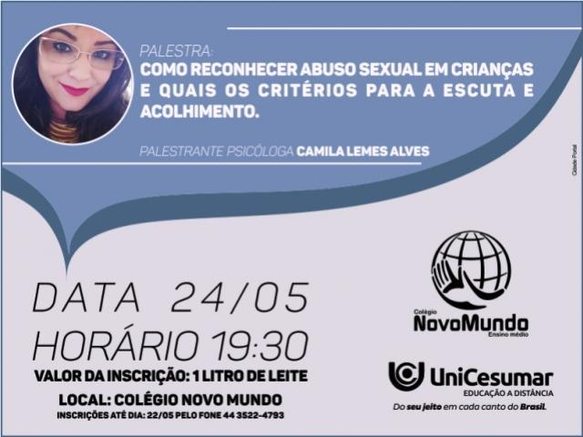 Unicesumar realiza palestra sobre como reconhecer Abuso Sexual em Crianças participe