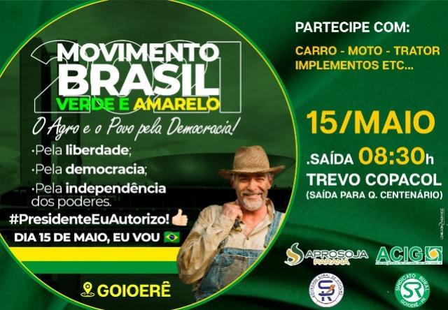 NOTA DE ESCLARECIMENTO: Movimento Brasil Verde e Amarelo foi cancelado